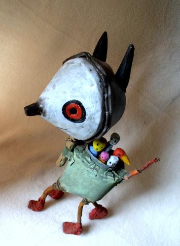 gérard collas,sculpture,chien,assemblage
