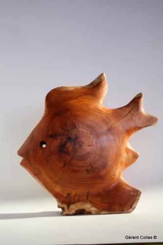 sculpture bois poisson