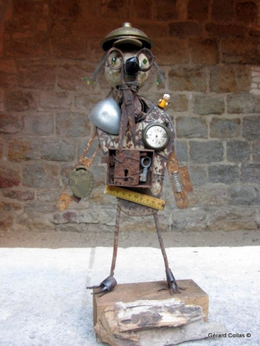 gérard collas,sculpture, assemblages, stage