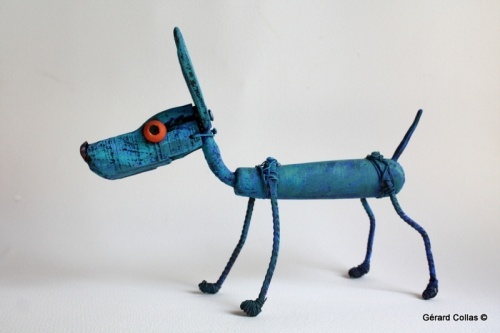 chien, bleu, gérard collas