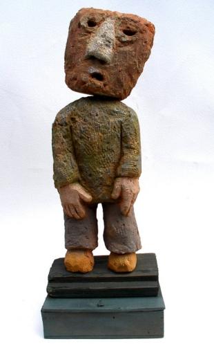 gérard collas -sculpteur-assemblage-art singulier-brique