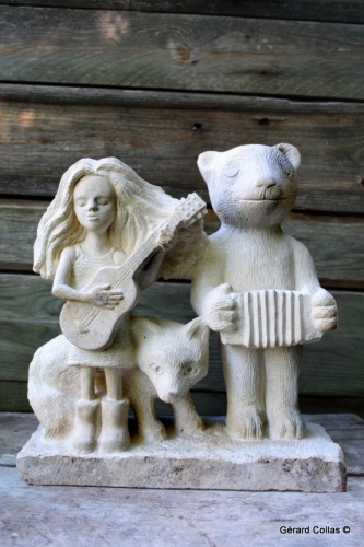 gérard collas -pierre-sculpture-guitare-ours