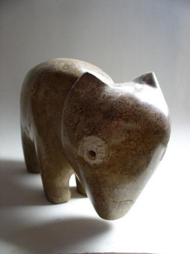 sculpture,gérard collas,chien,pierre
