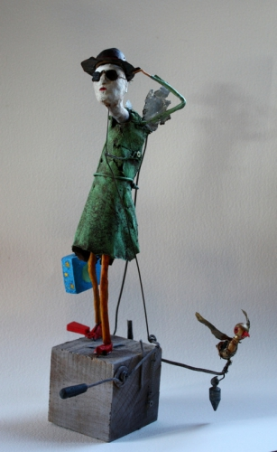 gérard collas,sculpture,chercheur d'étoiles,2013