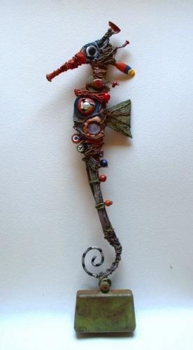 hippocampe,sculpture,assemblage,gerard collas