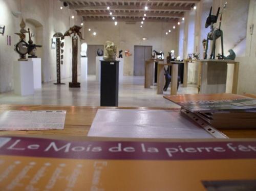 Lucien Ghomri, Patrice Kauffman, Patrick Vogel ,gérard collas,exposition,carennac,2012,le mois de la pierre