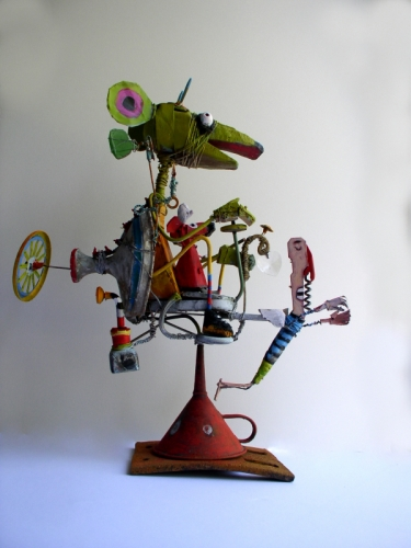 gérard collas -sculpteur-assemblage-art singuliersouris cosmiques