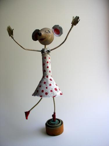 gérard collas -sculpteur-assemblage-art singulier,souris