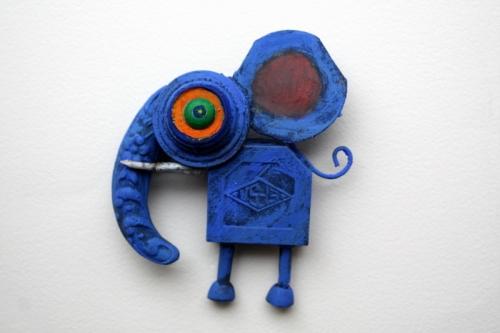 collas sculpture, assembage, éléphant