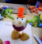 atelier,sculpture,assemblage,gerard collas,légumes,vayrac