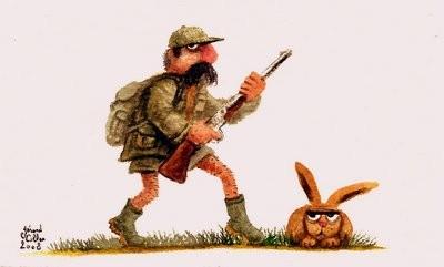 646 le chasseur aux belles gambettes et le lapin faché-1.jpg