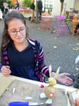 atelier,sculpture ,assemblage,gerard collas,légumes,vayrac