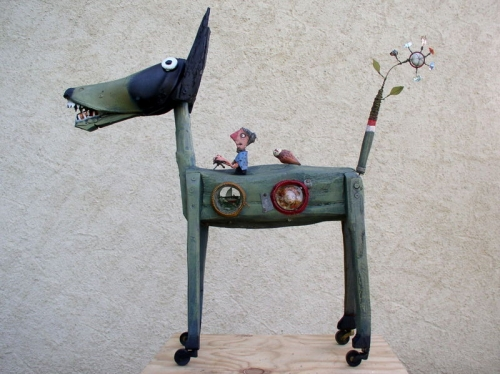 loup,assemblages,sculpture,gérard collas