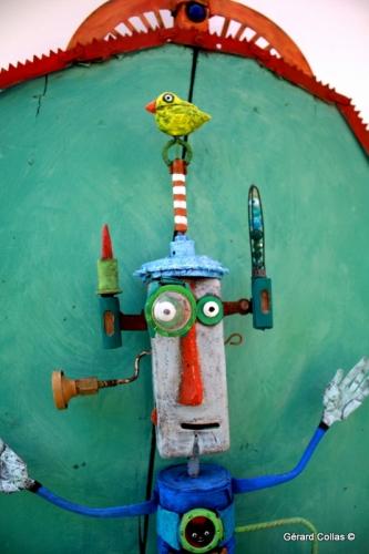 gérard collas, sculpture,assemblage,robot