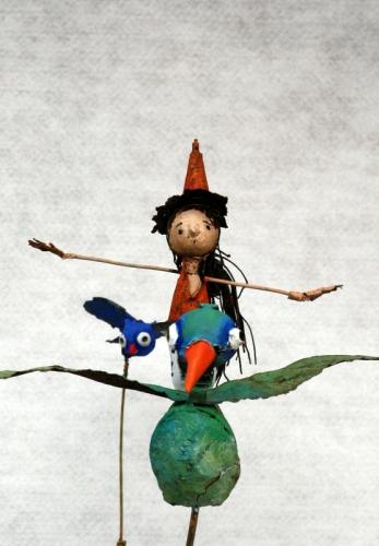collas ,sorcière ,assemblages, sculpture