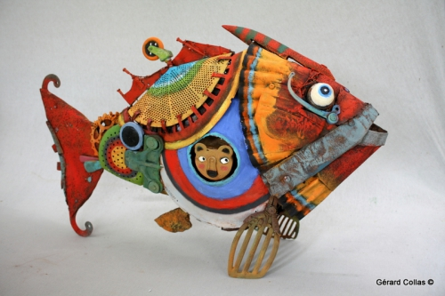 poisson assemblage,sculpture,gérartd collas