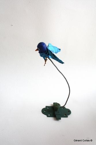 oiseau, gérard collas, assemblage art brut singulier