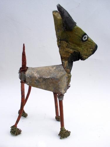 gérard collas -sculpteur-assemblage-art singulier-chien