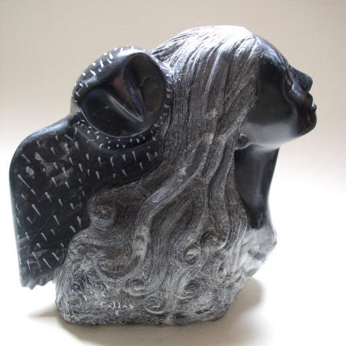 sculpture-gérard collas-nuit-chouette
