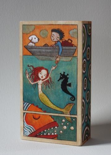 assemblage, gérard collas, boîte,sculpture, sirene