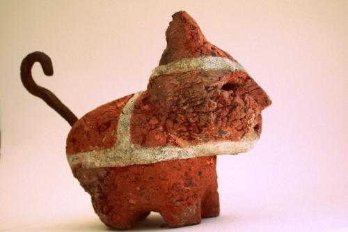 chat,gérard collas, sculpture, brique