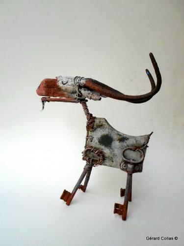 collas ,chèvre,assemblage,art