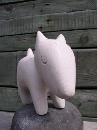 sculpture- pierre-chien-gérard collas-carennac-2012