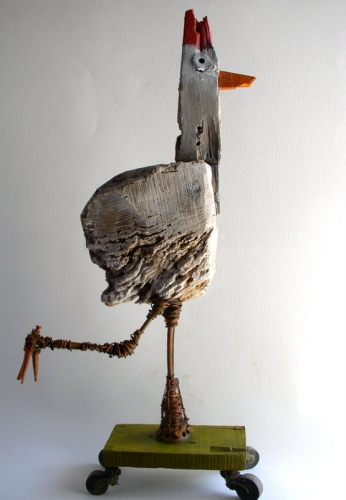 poule,sculpture,gérard collas,carennac