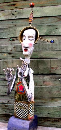 gérard collas -sculpteur-assemblage-art singulier-féee