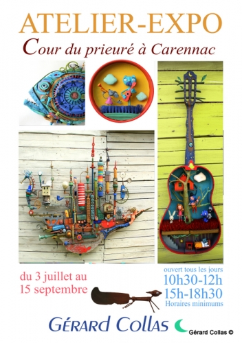 exposition, gérard collas,2020, carennac