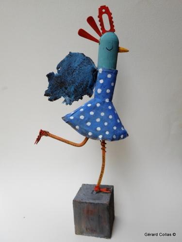 gérard collas,sculpture,asseemblage,damoiselle