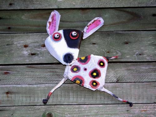 gérard collas,sculpteur,chien ,assemblage
