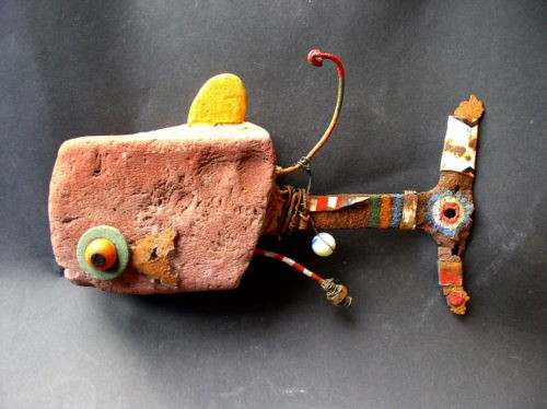 baleine,sculpture,gerard collas,assemblage