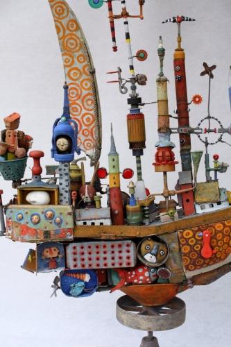 gérard collas ,bateau,assemblages ,sculpture