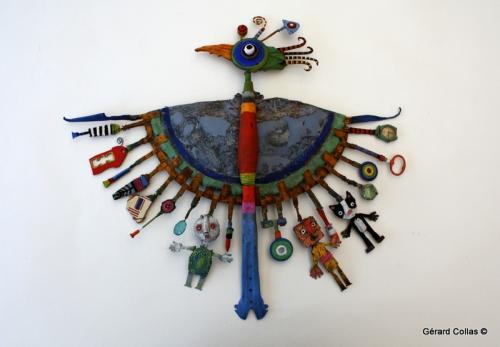 gérard collas, sculpture, assemblage art brut singulier