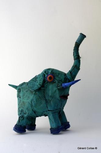 elephant,gérard collas,assemblage