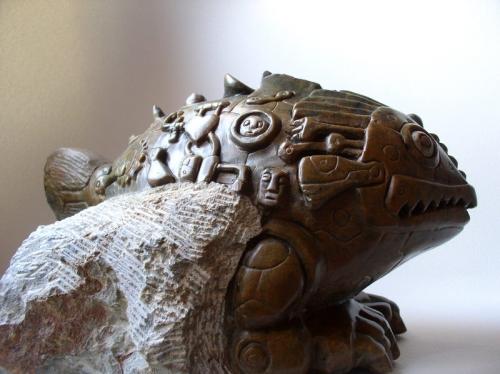 poisson,sculpture,gérard collas,stéatite