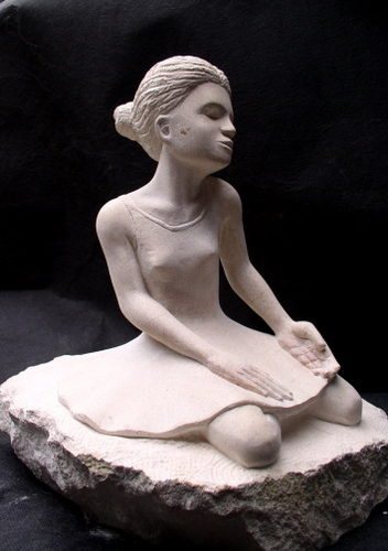 danseuse,sculpture,pierre,carennac,gerard,collas