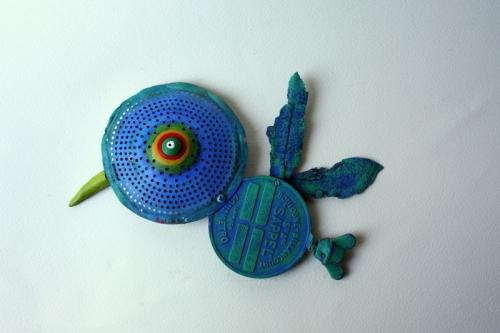 gérard collas, assemblage art brut singulier,oiseau