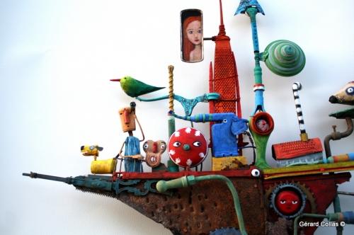 bateau, hérisson,gérard collas, assemblage