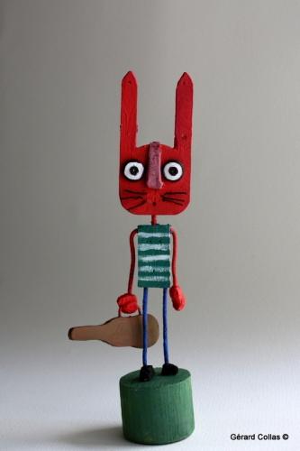 gérard collas, assemblage art brut singulier,lapin