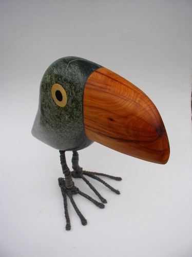 toucan,gerard collas,sculpture,pierre,serpentine,oiseau