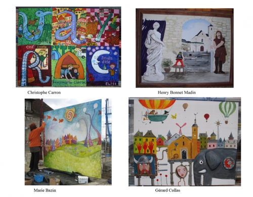 vayrac,peinture,fresque,gerard collas,marie bazin,christophe  caron,henri bonnet-madin,2012