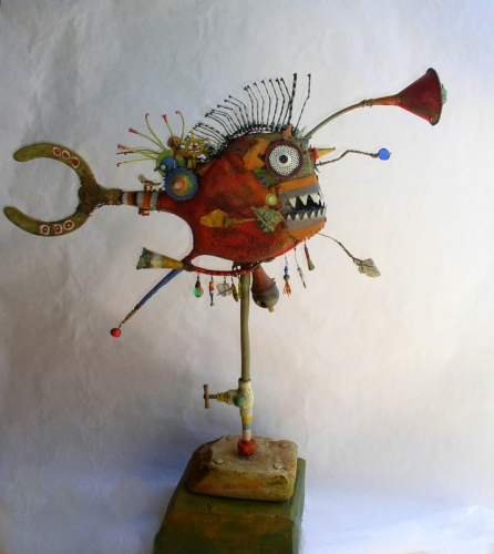 gérard collas -sculpteur-brique -carennac-sculpture-assemblage