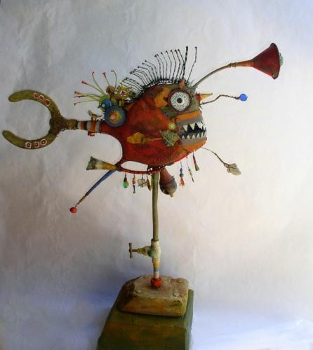 gérard collas -sculpteur-brique -carennac-sculpture-assemblage