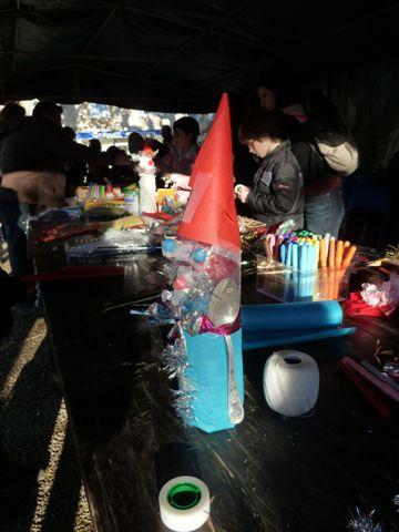 cabane,père Noël , ateliers,Puybrun,Marie-Geneviève Thoisy, Gérard Collas