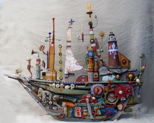 bateau,assemblage,gerard collas,sculpteur