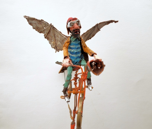 gerard collas ,assemblages,sculpture,velo