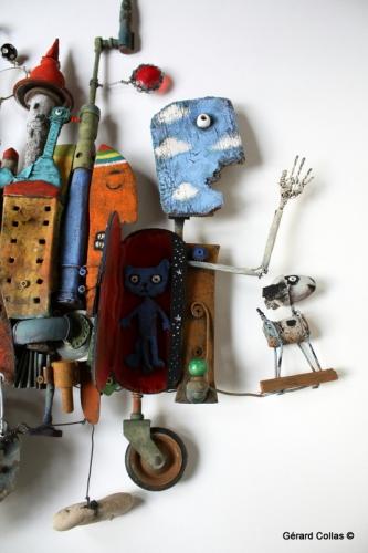 gérard collas,assemblage,sculpture,horloger