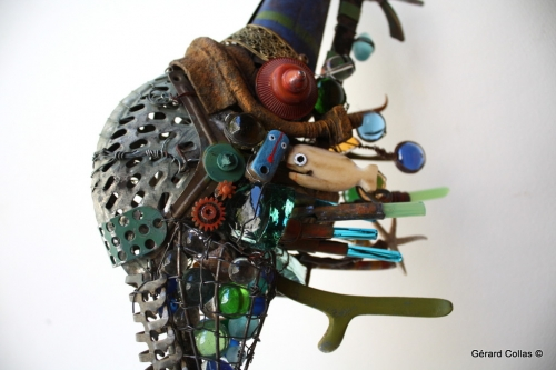 hippocampe,gérard collas,assemblage art brut singulier
